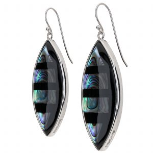 Pangea Mines Abalone Marquise Shaped Drop Earrings