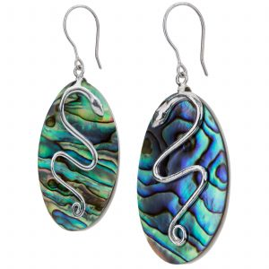 Pangea Mines Abalone Snake Earrings