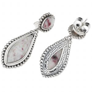 Pangea Mines Cinnabar Beaded Drop Earrings