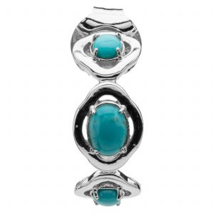 Pangea Mines Green Campo Frio Turquoise J-Hoop Earrings