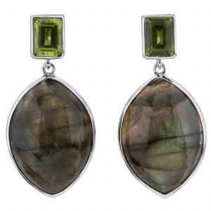 Pangea Mines Labradorite and Peridot Earrings