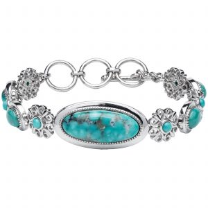 Pangea Mines Multi Shaped Campo Frio Turquoise Toggle Bracelet