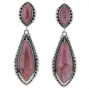 Pangea Mines Rhodonite Beaded Drop Earrings