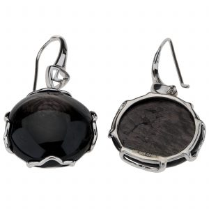 Pangea Mines Round Hypersthene Drop Earrings