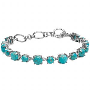 Pangea Mines Turquoise Adjustable Toggle Line Bracelet