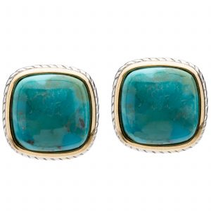 Pangea Mines Turquoise Framed Earrings