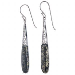 "Pangea Mines 2.5"" Apache Gold Elongated Drop Earrings"