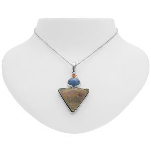 Pangea Mines Rainbow Pyrite, Madeira Citrine and Kyanite Pendant