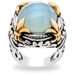 Pangea Mine's Moody Blues Collection Royal Aqua Chalcedony Ring